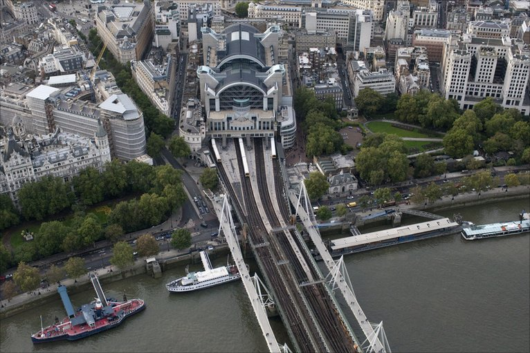 BBC - In pictures: Bird's eye view of London railway stations