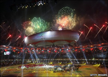 Commonwealth Games 2010 closing ceremony - fireworks