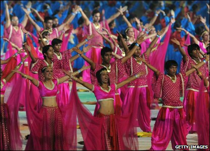 Commonwealth Games 2010 closing ceremony - Indian dancers