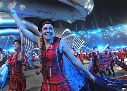 Commonwealth Games 2010 closing ceremony - Scottish dancers