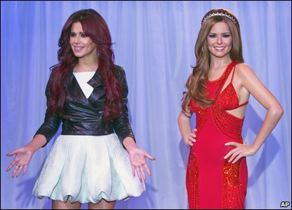 Cheryl Cole and her new waxwork model