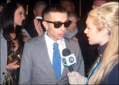 Hayley chats to Dappy from N-Dubz