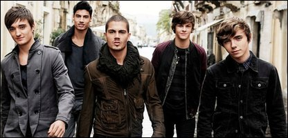 The Wanted. From left to right: Tom, Siva, Max, Jay and Nathan
