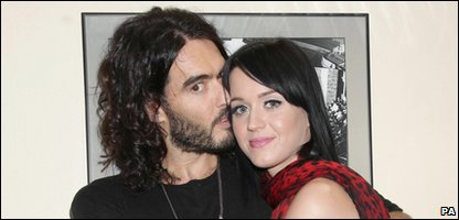 Katy Perry with new hubby Russell Brand - before they got married!