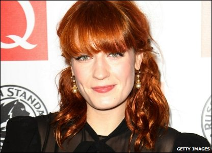 Florence Welch from Florence and the Machine at the Q Awards 2010 at Grosvenor House Hotel, in London