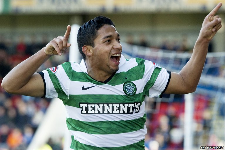 Celtic Match Pictures. _49717510_izaguirre
