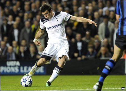 Tottenham v Inter Milan - Gareth Bale in action