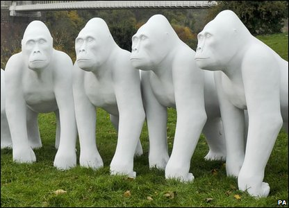 Gorilla sculptures to help launch celebrations for Bristol Zoo's 175th birthday.