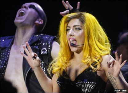 Lady Gaga in concert in Budapest, from where she accepted