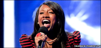 X Factor contestant TreyC Cohen at her first 2010 audition in front of the judges