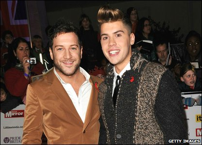 Pride of Britain Awards 2010 - Matt Cardle and Aiden Grimshaw from The X Factor