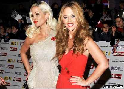 Pride of Britain Awards 2010 - Sarah Harding and Kimberley Walsh from Girls Aloud