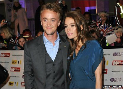 Pride of Britain Awards 2010 - Tom Felton and his guest