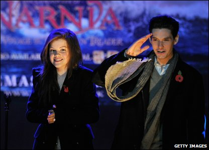 Georgie Henley and Ben Barnes from The Chronicles of Narnia films will also be helping to switch on the Christmas lights.