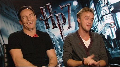 Harry Potter stars Jason Isaacs and Tom Felton
