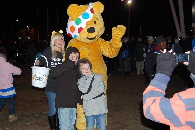 Children In Need Pudsey Bear. Pudsey was popular with
