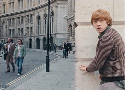 Rupert Grint as Ron Weasley in a scene from Harry Potter and the Deathly Hallows: Part 1