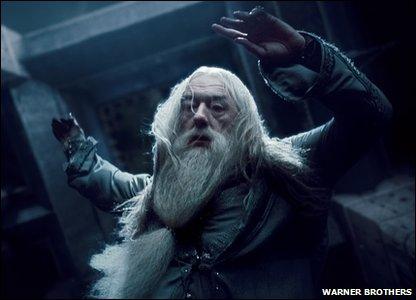 Michael Gambon as Albus Dumbledore in a scene from Harry Potter and the Deathly Hallows: Part 1