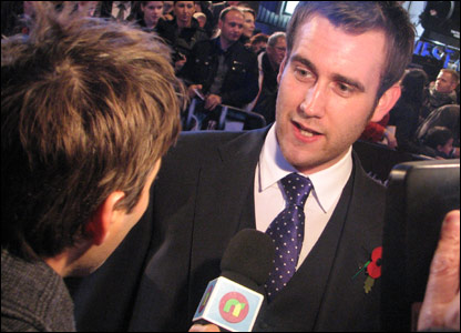 Matt Lewis, who plays Neville Longbottom in the Harry Potter films, at the world premiere of Harry Potter and the Deathly Hallows, in Leicester Square, London