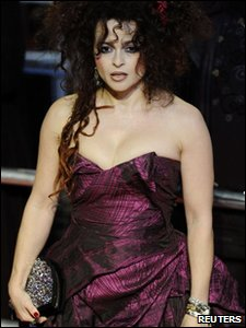 Helena Bonham-Carter, who plays Bellatrix Lestrange, at the world premiere of Harry Potter and the Deathly Hallows, in Leicester Square, London