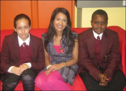 Hashim and Allae meet Sonali in the Newsround office