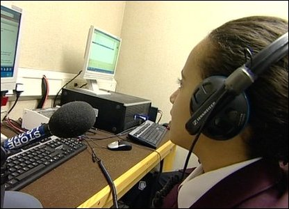 Hashim and Allae record Newsround Radio.