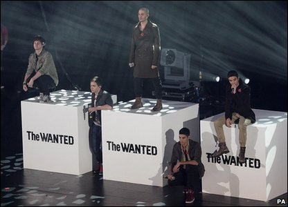 The Wanted perform at the Radio 1 Teen Awards