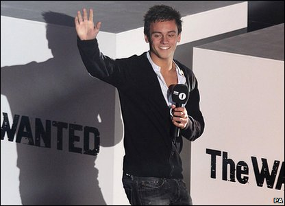 Tom Daley wins the prize for Teen Sporting Hero at the Radio 1 Teen Awards