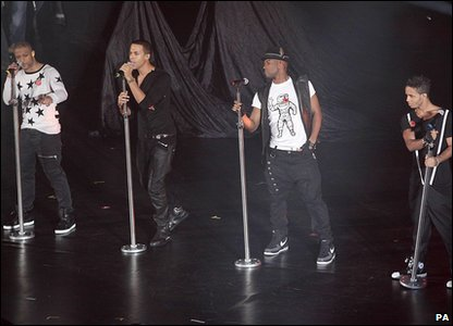 JLS perform at the Radio 1 Teen Awards