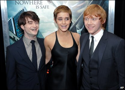 Harry Potter and the Deathly Hallows Part 1 - New York premiere - Daniel Radcliffe, Emma Watson and Rupert Grint