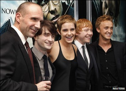 Harry Potter and the Deathly Hallows Part 1 - New York premiere - Ralph Fiennes, Daniel Radcliffe, Emma Watson, Rupert Grint and Tom Felton