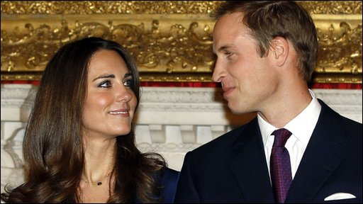 Kate Middleton with her future husband, Prince William