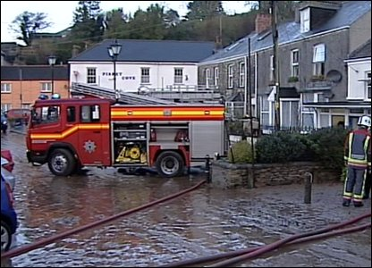 Floods have hit parts of Cornwall and Devon.