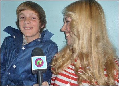 Joe Powell (aged 12) being interviewed by Hayley