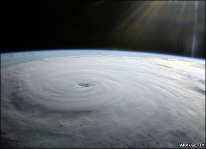 Hurricane Danielle as seen from space