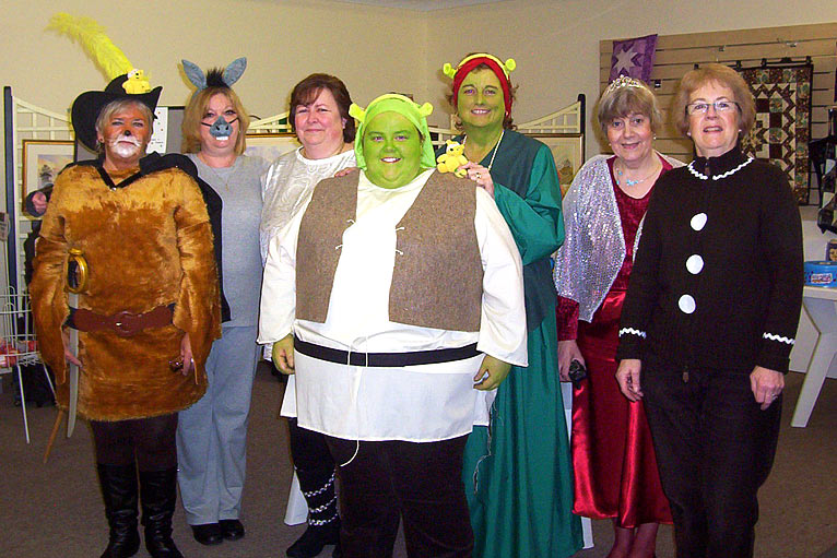 Bbc in pictures your children in need photos from norfolk sew simple ltd staff norfolk in shrek costume for bbc children in need solutioingenieria Images