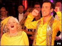 Anne Widdecombe and Anton Du Beke