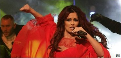 Cheryl Cole performing Promise This on Children in Need