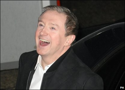 Louis Walsh outside the XFactor studios