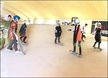 Skaterstan skate boarding school in Kabul