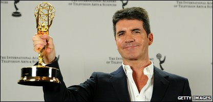 X Factor judge Simon Cowell receives the International Emmy Founders Award 2010