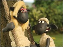 Shaun the Sheep and his girlfriend