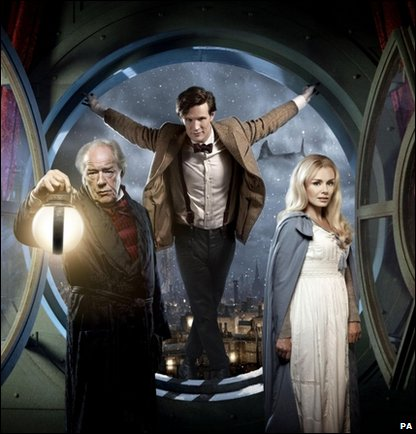 Matt Smith, Katherine Jenkins and Michael Gambon in the 2010 Doctor Who Christmas Special