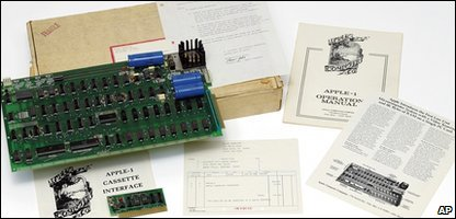 Auction house Christie's sold the first Apple computer