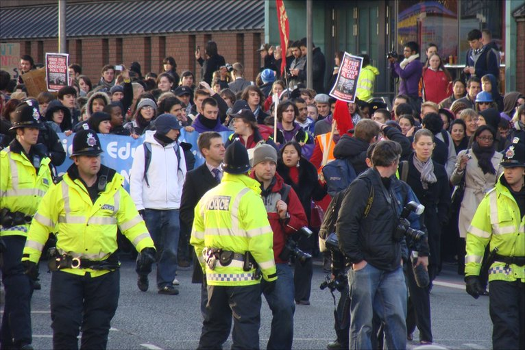 In contrast to the London protests, the Manchester demonstration ...