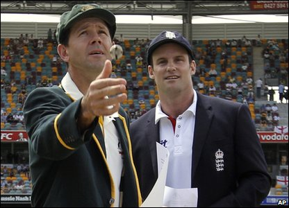 The Ashes 2010 first Test - England won the coin toss and chose to bat first