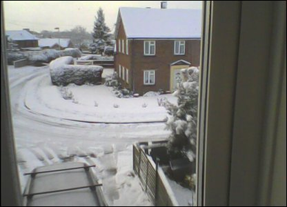 Snow scene in Norfolk