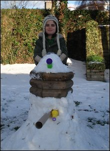 Sydney and his snow dalek