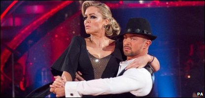 Patsy Kensit and her dance partner Robin Windsor during their last performnce on Strictly Come Dancing