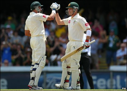 Hussey and Haddin were in top form!